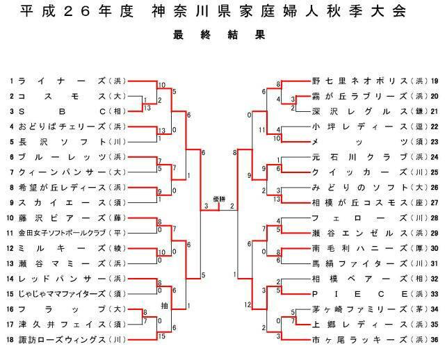 2014神奈川県家庭婦人秋季大会ソフトボール